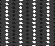 Seamless pattern with geometric shapes and symbols on. A dark background Stock Illustration