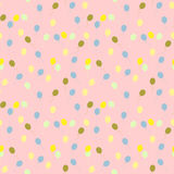 Seamless pattern with geometric shapes and symbols Royalty Free Stock Photography