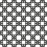 Seamless pattern with geometric shapes and symbols. Vector texture or background pattern Royalty Free Stock Images