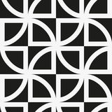Seamless pattern with geometric shapes and symbols Stock Photo
