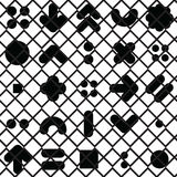 Seamless pattern geometric shapes. Vector seamless pattern. Universal repeating geometric abstract figure in black and white. Wallpaper, wrapping paper, interior Stock Image