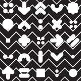 Seamless pattern geometric shapes. Vector seamless pattern. Universal repeating geometric abstract figure in black and white. Wallpaper, wrapping paper, interior Royalty Free Stock Photo