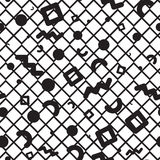Seamless pattern geometric shapes. Vector seamless pattern. Universal repeating geometric abstract figure in black and white. Wallpaper, wrapping paper, interior Stock Photos