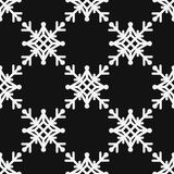 Seamless pattern of geometric snowflake. square snowflakes. Vector Eps-10. Seamless pattern of geometric snowflake. square snowflakes. Vector illustration Royalty Free Stock Images