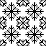 Seamless pattern of geometric snowflake. square snowflakes. Vector Eps-10. Seamless pattern of geometric snowflake. square snowflakes. Vector illustration Royalty Free Stock Photos