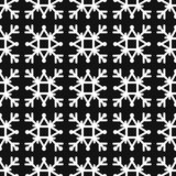 Seamless pattern of geometric snowflake. square snowflakes. Vector Eps-10. Seamless pattern of geometric snowflake. square snowflakes. Vector illustration Stock Photos