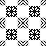 Seamless pattern of geometric snowflake. square snowflakes. Vector Eps-10 Royalty Free Stock Photo