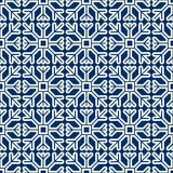 Seamless pattern of geometric snowflake. square snowflakes. Vector Eps-10 Stock Images