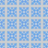 Seamless pattern of geometric snowflake. square snowflakes. Vector Eps-10. Seamless pattern of geometric snowflake. square snowflakes. Vector illustration Royalty Free Stock Image