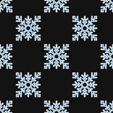 Seamless pattern of geometric snowflake. square snowflakes. Vector Eps-10 Royalty Free Stock Images