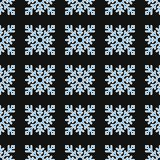 Seamless pattern of geometric snowflake. square snowflakes. Vector Eps-10 Stock Photos