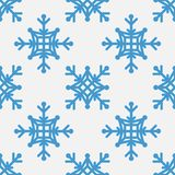 Seamless pattern of geometric snowflake. square snowflakes. Vector Eps-10 Stock Image