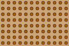 Geometric square shape in seamless pattern on beige background. Seamless pattern. Geometric square shape on beige background Royalty Free Stock Images