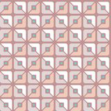 Seamless pattern, geometric, squares, pink, halves, background. Royalty Free Stock Images