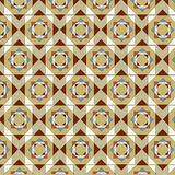 Seamless pattern geometric tiles earthtone colors Royalty Free Stock Photography