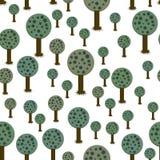 Seamless pattern of geometric trees royalty free stock photos