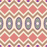 Seamless pattern with geometrical motives in the African style. Stock Image