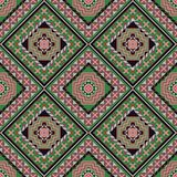 Seamless pattern with geometrical patterns. stock image