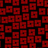 Seamless pattern with geometrical shapes. On black Royalty Free Stock Images