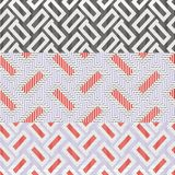 Geometrical and checkered background. Seamless pattern with geometrical on striped and checkered colorful background Royalty Free Stock Image