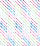 Perfect graphical seamless pattern. Geometrical texture. Seamless pattern with geometrical on striped and checkered colorful background vector illustration
