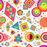 Seamless pattern geometry shape colorful abstract Stock Images