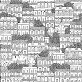 Seamless pattern of Georgian style houses Royalty Free Stock Images