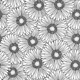Seamless pattern with gerbera flowers Royalty Free Stock Photos