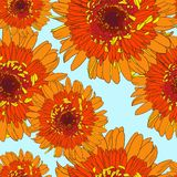 Seamless pattern with gerbers Royalty Free Stock Photography