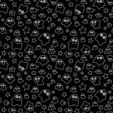 Seamless pattern ghost Royalty Free Stock Photo