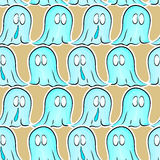 Seamless pattern with ghosts Royalty Free Stock Images