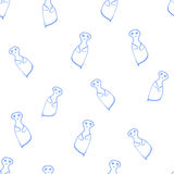 Seamless pattern ghosts Royalty Free Stock Images