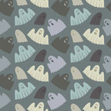 Seamless pattern of ghosts Royalty Free Stock Photography