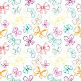 Seamless pattern with gift bow Royalty Free Stock Image