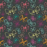 Seamless pattern with gift bow Stock Images