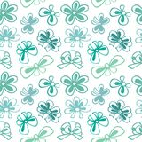 Seamless pattern with gift bow Royalty Free Stock Images