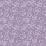 Seamless pattern with gift bow Stock Photography