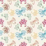 Seamless pattern with gift bow Royalty Free Stock Photo