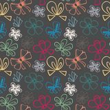 Seamless pattern with gift bow Stock Image
