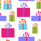 Seamless pattern with gift boxes. Seamless pattern with a gift boxes Royalty Free Stock Images