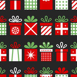 Seamless pattern with gift boxes, Christmas background, surprises for the holiday. Vector Stock Photo