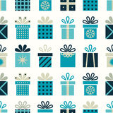Seamless pattern with gift boxes Royalty Free Stock Photography
