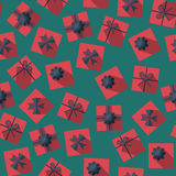Seamless pattern with gift boxes Royalty Free Stock Images