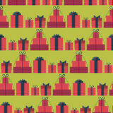 Seamless pattern with gift boxes Royalty Free Stock Image