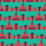 Seamless pattern with gift boxes Royalty Free Stock Photos