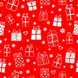 Seamless pattern of gift boxes Royalty Free Stock Images