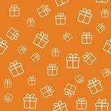 Seamless pattern with gift boxes Stock Photography