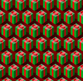 Seamless pattern with gift boxes Stock Image