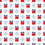 Seamless pattern with gift boxes. Presents. Happy New Year 2019, Christmas, Birthday, mothers day vector background. Sale,. Shopping concept vector illustration