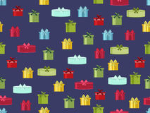 Seamless pattern with gift boxes. Seamless pattern with Christmas presents. Vector Stock Photo